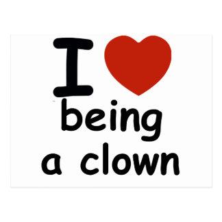 clown design postcard