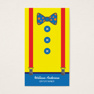 CLOWN ENTERTAINER BUSINESS CARDS | BRIGHT JOLLY
