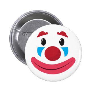 Clown Face 6 Cm Round Badge