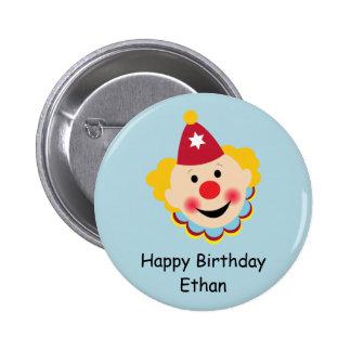 Clown Face Birthday Button