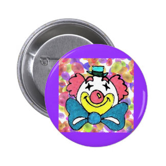 Clown Face Button