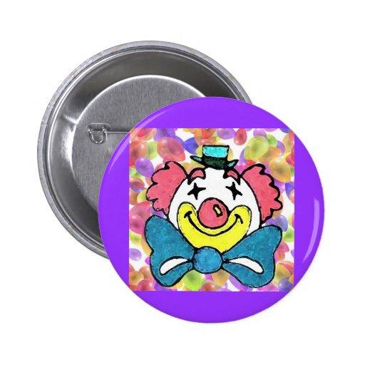 Clown Face Button