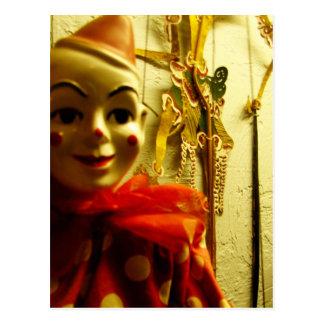 Clown Face Postcard