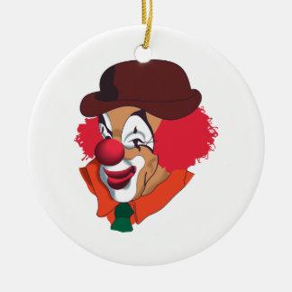Clown Face Round Ceramic Decoration