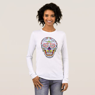 Clown Face Sugar Skull Long Sleeve T-Shirt