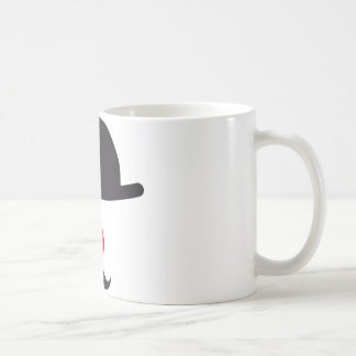 clown face with hat, red nose and mustache basic white mug
