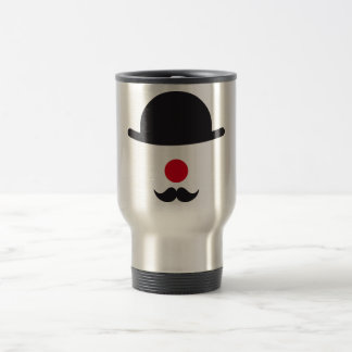 clown face with hat, red nose and mustache coffee mugs