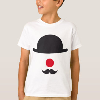 clown face with hat, red nose and mustache t shirts