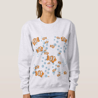 Clown Fish and Air Bubbles Sweatshirt