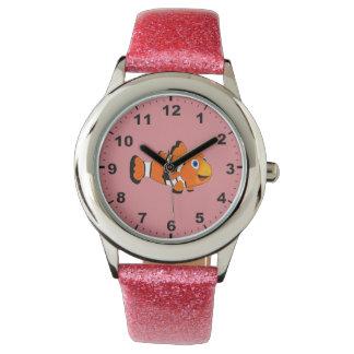 Clown fish design wrist watches