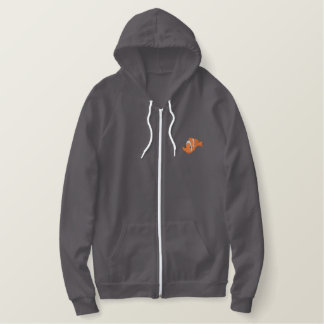 Clown Fish Embroidered Fleece Hoodie