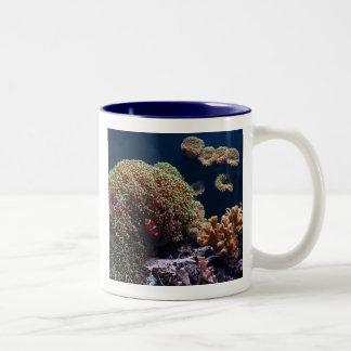 Clown fish in aquarium Two-Tone mug