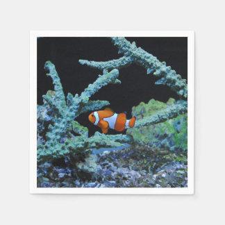 Clown Fish in Coral Disposable Napkin