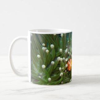 Clown Fish in the Coral Garden of Sipadan Basic White Mug