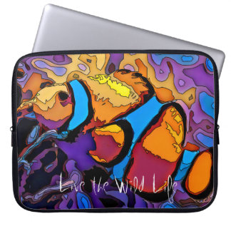 clown Fish - Live the Wild Life / Laptop Sleeve