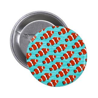 Clown fish pattern 6 cm round badge