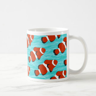 Clown fish pattern basic white mug