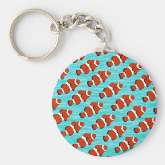 Clown fish pattern key ring