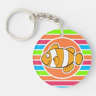 Clown Fish; Retro Neon Rainbow Key Chains