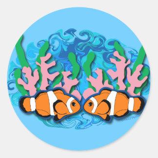 Clown Fish Round Sticker