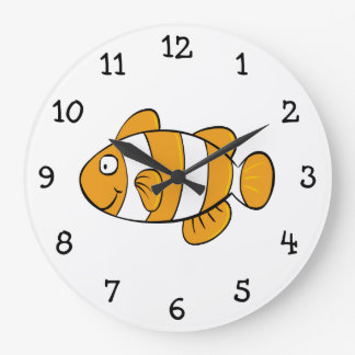 Clown Fish Wall Clock