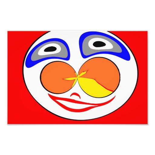 Clown funny face photo
