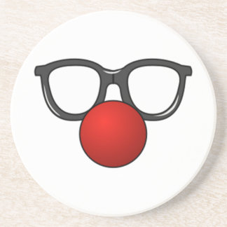 Clown Glasses and Nose Coaster