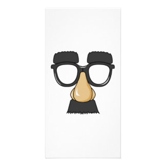 Clown Glasses and Nose Customised Photo Card