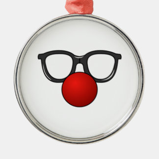 Clown Glasses and Nose Christmas Ornament