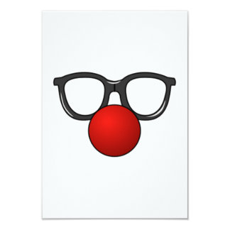 Clown Glasses and Nose Personalized Announcement