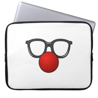 Clown Glasses and Nose Laptop Computer Sleeve