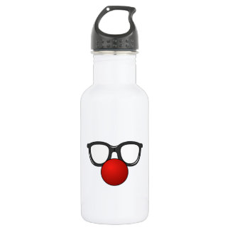 Clown Glasses and Nose 18oz Water Bottle
