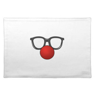 Clown Glasses and Nose Place Mats