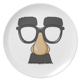 Clown Glasses and Nose Party Plates