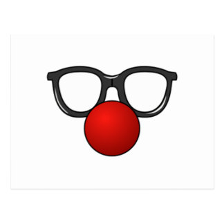 Clown Glasses and Nose Postcard