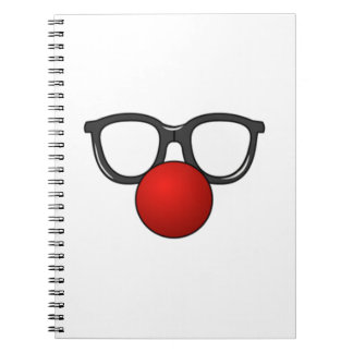 Clown Glasses and Nose Spiral Notebook