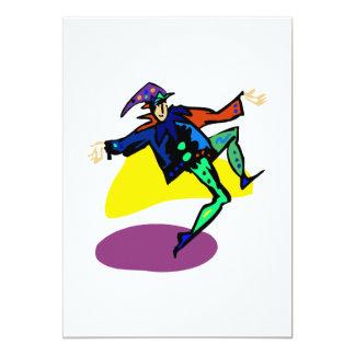 Clown goofy 13 cm x 18 cm invitation card