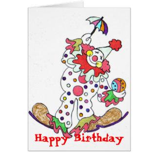 Clown, Happy Birthday Greeting Card