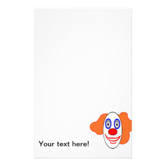 Clown head cartoon custom stationery