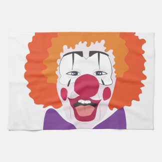 Clown Head Tea Towel