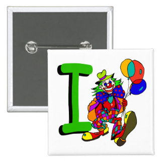 Clown I.png 15 Cm Square Badge