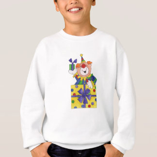 Clown in a Present Sweatshirt