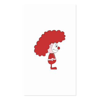 Clown in Red and White. Cartoon. Business Card