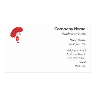 Clown in Red and White. Cartoon. Business Card Templates