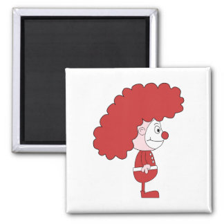 Clown in Red and White. Cartoon. Magnet