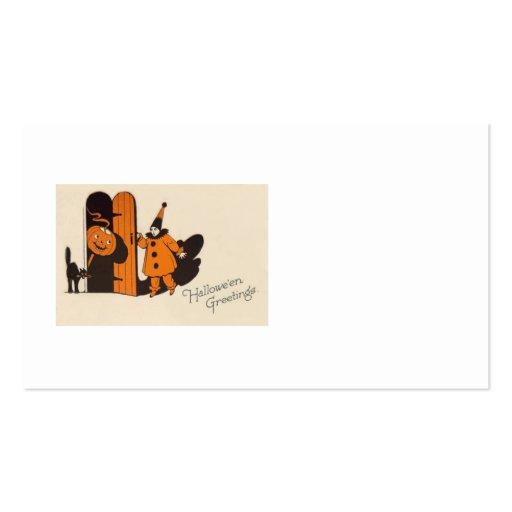 Clown Jack O Lantern Black Cat Business Cards