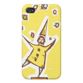 Clown Juggler iPhone 4 Cover