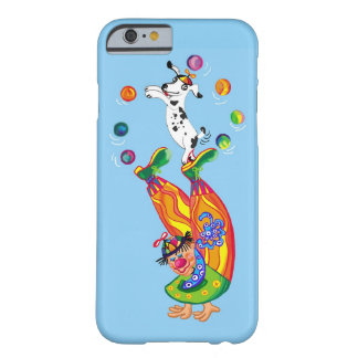 clown juggling and dog barely there iPhone 6 case