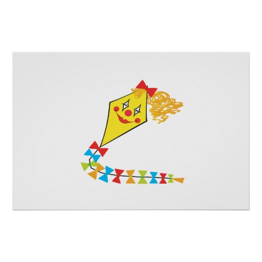 Clown Kite Poster