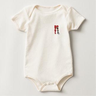 clown loce baby bodysuit
